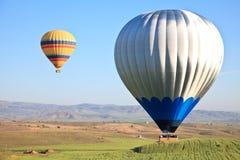 Hete luchtballons in Cappadocia, Turkije Stock Foto