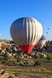 Hete luchtballons in Cappadocia, Turkije Royalty-vrije Stock Foto