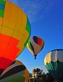 Hete luchtballons lancering royalty-vrije stock fotografie