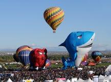 Hete luchtballons met speciale vormen Royalty-vrije Stock Afbeelding
