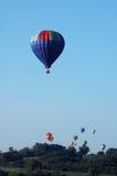Hete luchtballons over Iowa Stock Foto's