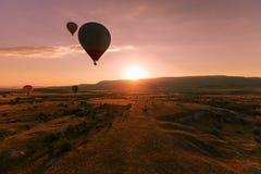 Hete luchtimpuls in Cappadocia stock afbeelding