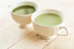 hete matcha latte Royalty-vrije Stock Afbeelding