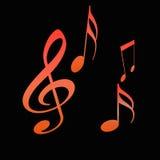 Hete muziek Stock Afbeeldingen