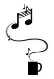 hete muziek Royalty-vrije Stock Afbeeldingen