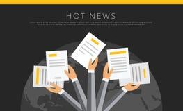 Hete nieuws vectorachtergrond Stock Foto's