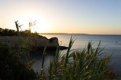 Hete ochtend bij ` Senhora DA Hora `, Algarve, Portugal royalty-vrije stock foto