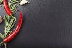 Hete peper met kruiden royalty-vrije stock afbeeldingen