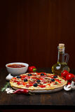 Hete pizza Royalty-vrije Stock Afbeelding