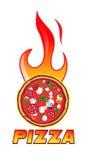 Hete pizza royalty-vrije illustratie