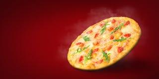Hete pizza enkel van oven royalty-vrije stock fotografie
