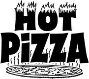 Hete Pizzabanner Stock Foto's