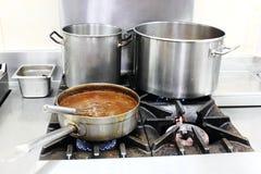 Hete pot van soep Royalty-vrije Stock Foto