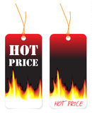 Hete prijskaartjes Royalty-vrije Stock Afbeelding
