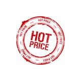 Hete prijszegel Stock Afbeeldingen