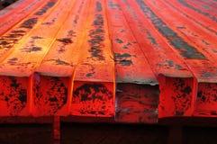 Hete rode metaal lege staaf royalty-vrije stock afbeelding