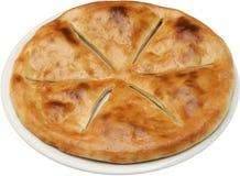 Hete Smakelijke broodcake met knoflook Royalty-vrije Stock Foto's