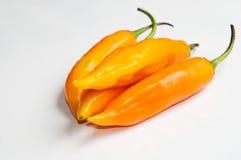 Hete Spaanse peper Aji amarillo. Stock Afbeeldingen