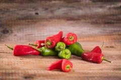 Hete Spaanse peperpeper Stock Foto's