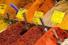 Hete Spaanse pepers, Istanboel, Turkije royalty-vrije stock foto's