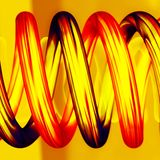 Hete spiraalvormige pijpen in 3D. Royalty-vrije Stock Fotografie