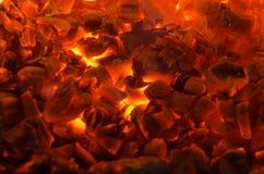 Hete steenkolen stock afbeelding