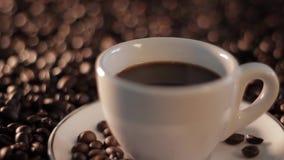 Hete Stomende Kop van Koffie stock video