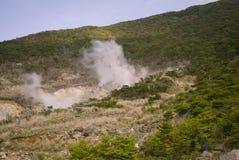 Hete Stoom door Geothermisch Royalty-vrije Stock Foto's