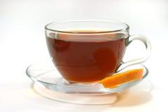 Hete thee en citroen Stock Afbeeldingen