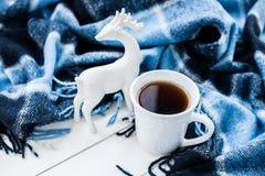 Hete thee en Kerstmisherten Royalty-vrije Stock Afbeeldingen