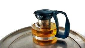 Hete thee en koffiepauzetijd Stock Foto