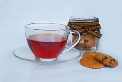 Hete thee in glaskop Royalty-vrije Stock Afbeeldingen