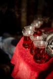 Hete thee in glazen Royalty-vrije Stock Afbeeldingen