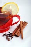 Hete thee met kruiden Royalty-vrije Stock Foto's