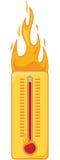 Hete thermometer Royalty-vrije Stock Foto's