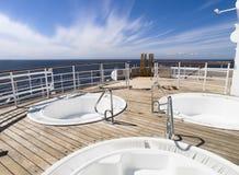 Hete ton drie op het dek van een cruise Royalty-vrije Stock Foto's