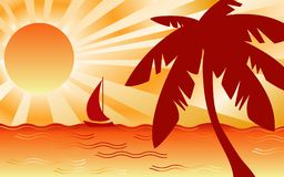 Hete Tropische Lndscape Royalty-vrije Stock Foto