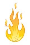 Hete vlam op witte achtergrond Royalty-vrije Stock Foto's
