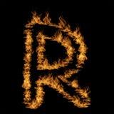 Hete vurige brandende vlamdoopvont Stock Afbeeldingen