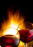 Hete wijnnacht stock foto's