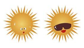 Hete zon stock illustratie