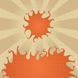 Hete zon en brand vector illustratie