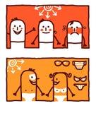 Hete zon stralen & het looien stock illustratie