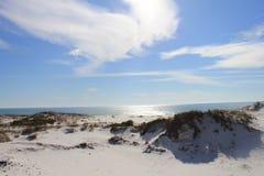Hete zonnige dagduinen op Shell Island, Florida stock afbeeldingen