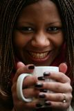 Hete zwarte koffie royalty-vrije stock foto's