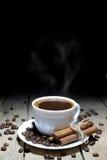 Hete Zwarte Koffie Goede Manier om de Dag te beginnen Stock Afbeelding