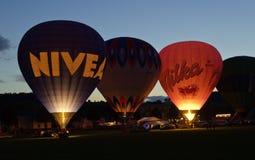 Hetelucht-ballons bij de nacht #3 Stock Foto