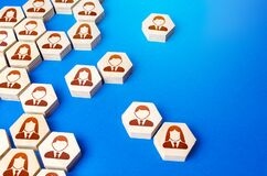 Free Heterogeneous Social Structure Of Employee Hexagons. Recruiting And Personnel Management. Process Of Creating A Business Single Stock Image - 192833721