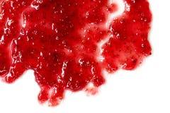 Heterogeniczna masa malinowy dżem, płaski odgórny widok Fotografia Stock