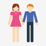 Heterosexual couple icon image Stock Photo